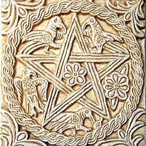 Pentagram, inaczej Gwiazda Pitagorejska.