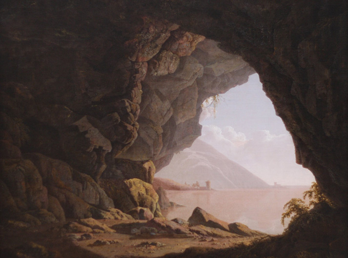 Joseph Wright , Cavern, near Naples, 1774