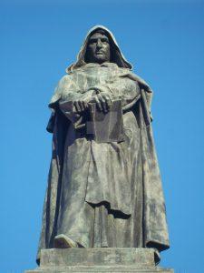 Giordano (Philippo) Bruno (1548-1600), fragment pomnika w Rzymie, Campo di Fiori