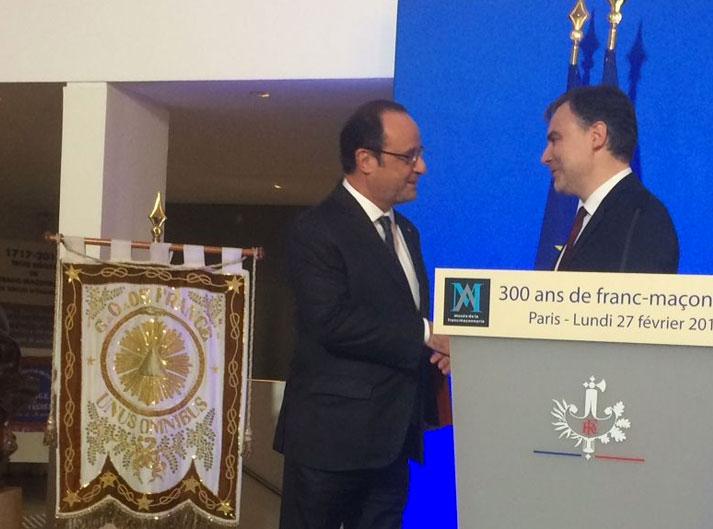 François Hollande rend hommage aux francs-maçons, fot. François Koch