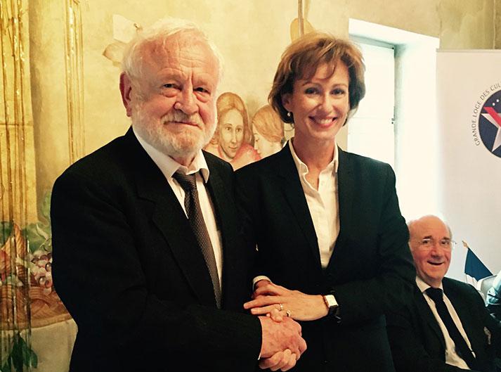 Henryk Wierniewski wraz z W CZ M Christine Sauvagnac na konferencji w Ustroniu, 2017