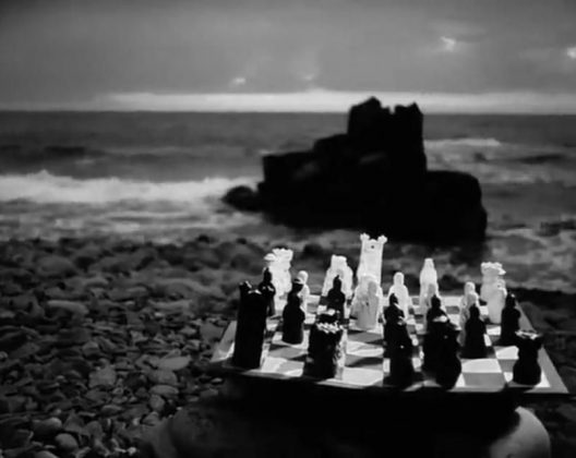 Kadr z filmu Siódma pieczęć Ingmara Bergmana